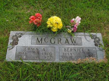MCGRAW, BERNICE K. - Boone County, Arkansas | BERNICE K. MCGRAW - Arkansas Gravestone Photos