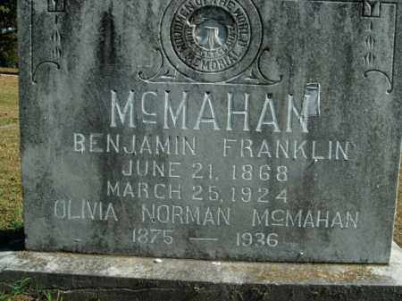 NORMAN MCMAHAN, OLIVIA - Boone County, Arkansas | OLIVIA NORMAN MCMAHAN - Arkansas Gravestone Photos