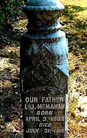 MCMAHAN, L. J. - Boone County, Arkansas | L. J. MCMAHAN - Arkansas Gravestone Photos