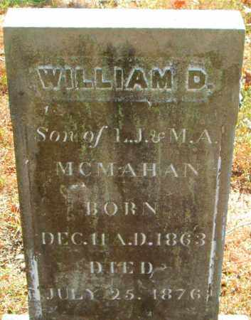 MCMAHAN, WILLIAM  D. - Boone County, Arkansas | WILLIAM  D. MCMAHAN - Arkansas Gravestone Photos
