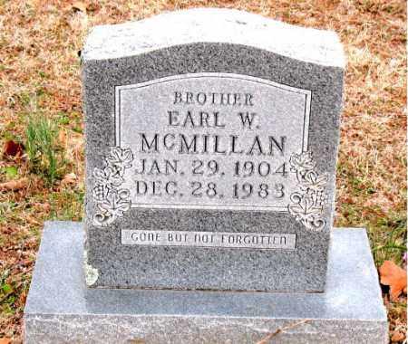 MCMILLAN, EARL  W. - Boone County, Arkansas | EARL  W. MCMILLAN - Arkansas Gravestone Photos