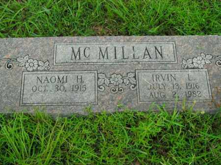 MCMILLAN, IRVIN L. - Boone County, Arkansas | IRVIN L. MCMILLAN - Arkansas Gravestone Photos