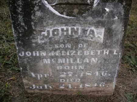 MCMILLAN, JOHN A. - Boone County, Arkansas | JOHN A. MCMILLAN - Arkansas Gravestone Photos