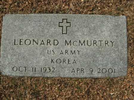 MCMURTRY  (VETERAN KOR), LEONARD - Boone County, Arkansas | LEONARD MCMURTRY  (VETERAN KOR) - Arkansas Gravestone Photos