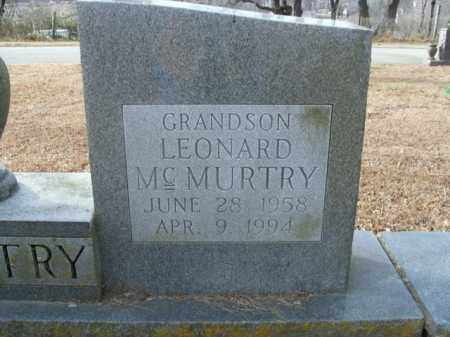 MCMURTRY, LEONARD - Boone County, Arkansas | LEONARD MCMURTRY - Arkansas Gravestone Photos