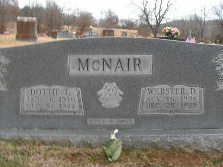 MCNAIR, WEBSTER D. - Boone County, Arkansas | WEBSTER D. MCNAIR - Arkansas Gravestone Photos