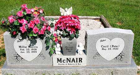 MORRIS MCNAIR, MILLIE - Boone County, Arkansas | MILLIE MORRIS MCNAIR - Arkansas Gravestone Photos