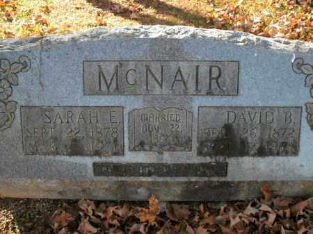 MCNAIR, SARAH E. - Boone County, Arkansas | SARAH E. MCNAIR - Arkansas Gravestone Photos