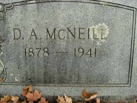 MCNEILL, D.A. - Boone County, Arkansas | D.A. MCNEILL - Arkansas Gravestone Photos