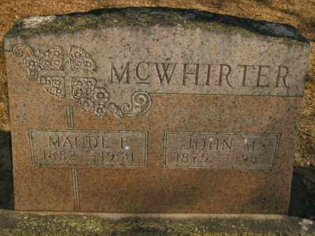 MCWHIRTER, JOHN M. - Boone County, Arkansas | JOHN M. MCWHIRTER - Arkansas Gravestone Photos