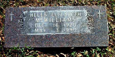 MCWILLIAMS, HELEN ELIZABETH - Boone County, Arkansas | HELEN ELIZABETH MCWILLIAMS - Arkansas Gravestone Photos