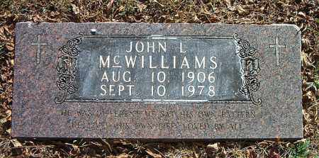 MCWILLIAMS, JOHN  L. - Boone County, Arkansas | JOHN  L. MCWILLIAMS - Arkansas Gravestone Photos