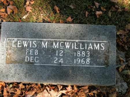 MCWILLIAMS, LEWIS M. - Boone County, Arkansas | LEWIS M. MCWILLIAMS - Arkansas Gravestone Photos