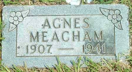 MEACHAM, AGNES - Boone County, Arkansas | AGNES MEACHAM - Arkansas Gravestone Photos