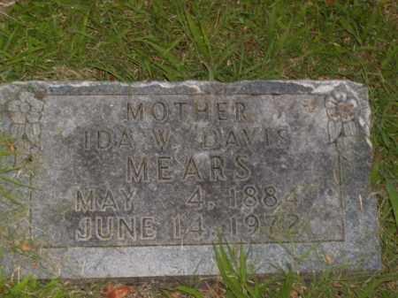 DAVIS MEARS, IDA W. - Boone County, Arkansas | IDA W. DAVIS MEARS - Arkansas Gravestone Photos