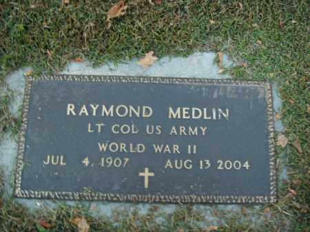 MEDLIN  (VETERAN  WWII), RAYMOND - Boone County, Arkansas | RAYMOND MEDLIN  (VETERAN  WWII) - Arkansas Gravestone Photos