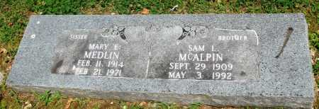 MCALPIN MEDLIN, MARY E - Boone County, Arkansas | MARY E MCALPIN MEDLIN - Arkansas Gravestone Photos