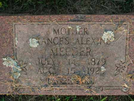 MEEDER, FRANCES ALEXINE - Boone County, Arkansas | FRANCES ALEXINE MEEDER - Arkansas Gravestone Photos