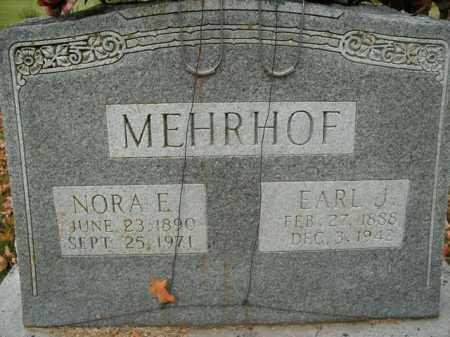 MEHRHOF, EARL J. - Boone County, Arkansas | EARL J. MEHRHOF - Arkansas Gravestone Photos