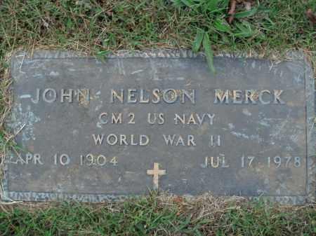 MERCK  (VETERAN WWII), JOHN NELSON - Boone County, Arkansas | JOHN NELSON MERCK  (VETERAN WWII) - Arkansas Gravestone Photos