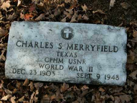 MERRYFIELD  (VETERAN WWII), CHARLES S - Boone County, Arkansas | CHARLES S MERRYFIELD  (VETERAN WWII) - Arkansas Gravestone Photos