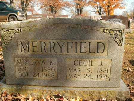 MERRYFIELD, MINERVA K. - Boone County, Arkansas | MINERVA K. MERRYFIELD - Arkansas Gravestone Photos