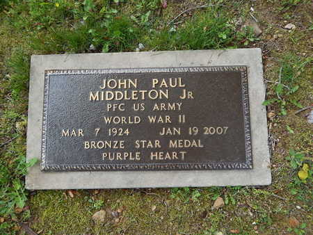 MIDDLETON, JR (VETERAN WWII), JOHN PAUL - Boone County, Arkansas | JOHN PAUL MIDDLETON, JR (VETERAN WWII) - Arkansas Gravestone Photos