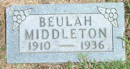 MIDDLETON, BEULAH - Boone County, Arkansas | BEULAH MIDDLETON - Arkansas Gravestone Photos
