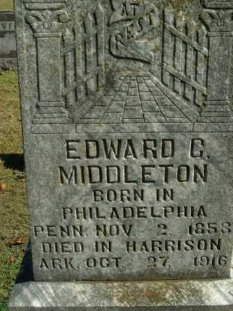 MIDDLETON, EDWARD G. - Boone County, Arkansas | EDWARD G. MIDDLETON - Arkansas Gravestone Photos
