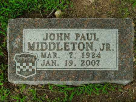 MIDDLETON, JR, JOHN PAUL - Boone County, Arkansas | JOHN PAUL MIDDLETON, JR - Arkansas Gravestone Photos