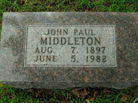 MIDDLETON, JOHN PAUL - Boone County, Arkansas | JOHN PAUL MIDDLETON - Arkansas Gravestone Photos