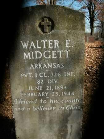 MIDGETT  (VETERAN), WALTER E - Boone County, Arkansas | WALTER E MIDGETT  (VETERAN) - Arkansas Gravestone Photos