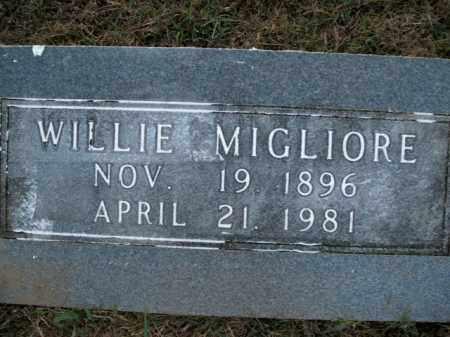 MIGLIORE, WILLIE - Boone County, Arkansas | WILLIE MIGLIORE - Arkansas Gravestone Photos