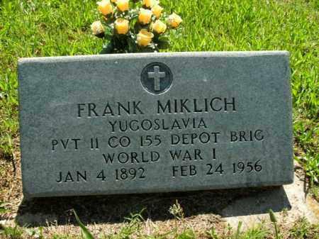 MIKLICH  (VETERAN WWI), FRANK - Boone County, Arkansas | FRANK MIKLICH  (VETERAN WWI) - Arkansas Gravestone Photos