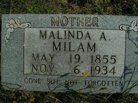 MILAM, MALINDA A. - Boone County, Arkansas | MALINDA A. MILAM - Arkansas Gravestone Photos