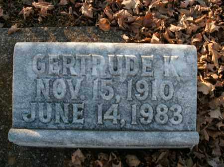 MILBURN, GERTRUDE K. - Boone County, Arkansas | GERTRUDE K. MILBURN - Arkansas Gravestone Photos