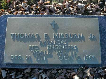 MILBURN, JR  (VETERAN WWII), THOMAS E - Boone County, Arkansas | THOMAS E MILBURN, JR  (VETERAN WWII) - Arkansas Gravestone Photos