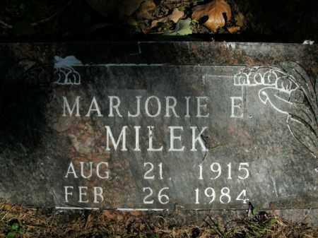 MILEK, MARJORIE E. - Boone County, Arkansas | MARJORIE E. MILEK - Arkansas Gravestone Photos