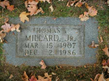 MILLARD, JR, THOMAS T - Boone County, Arkansas | THOMAS T MILLARD, JR - Arkansas Gravestone Photos
