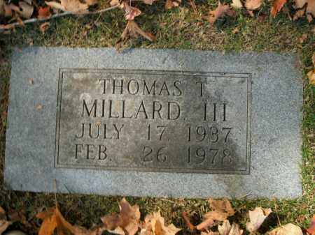 MILLARD, III, THOMAS T - Boone County, Arkansas | THOMAS T MILLARD, III - Arkansas Gravestone Photos