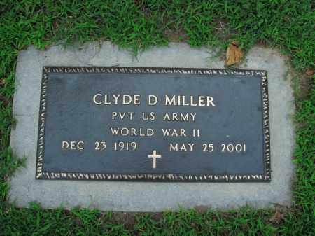 MILLER  (VETERAN WWII), CLYDE D. - Boone County, Arkansas | CLYDE D. MILLER  (VETERAN WWII) - Arkansas Gravestone Photos