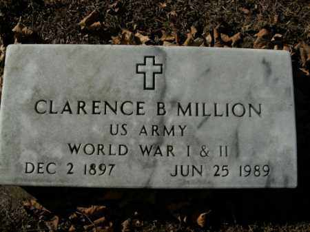MILLION  (VETERAN 2 WARS), CLARENCE B - Boone County, Arkansas | CLARENCE B MILLION  (VETERAN 2 WARS) - Arkansas Gravestone Photos
