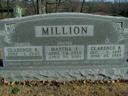 SHONK MILLION, MARTHA J. - Boone County, Arkansas | MARTHA J. SHONK MILLION - Arkansas Gravestone Photos