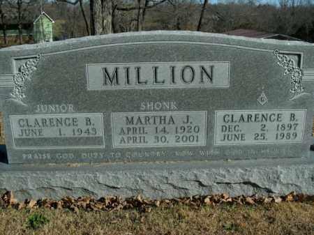 SHONK MILLION, MARTHA J. - Boone County, Arkansas | MARTHA J. SHONK MILLION - Arkansas Gravestone Photos