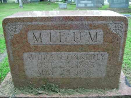 CONNERLY MILUM, AUDRA - Boone County, Arkansas | AUDRA CONNERLY MILUM - Arkansas Gravestone Photos