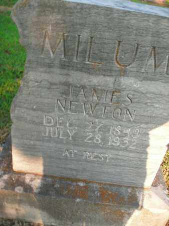 MILUM, JAMES NEWTON - Boone County, Arkansas | JAMES NEWTON MILUM - Arkansas Gravestone Photos