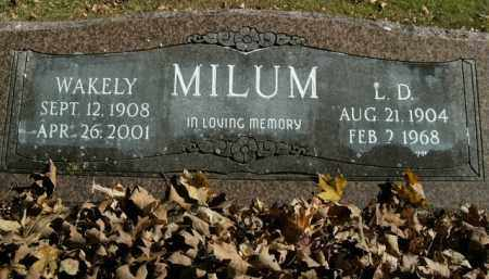 MILUM, L.D. - Boone County, Arkansas | L.D. MILUM - Arkansas Gravestone Photos