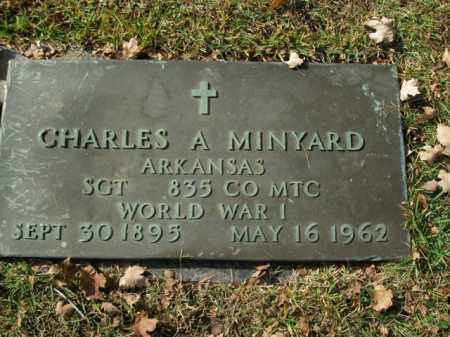 MINYARD  (VETERAN WWI), CHARLES A - Boone County, Arkansas | CHARLES A MINYARD  (VETERAN WWI) - Arkansas Gravestone Photos