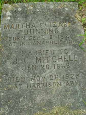 DUNNING MITCHELL, MARTHA ELIZABETH - Boone County, Arkansas | MARTHA ELIZABETH DUNNING MITCHELL - Arkansas Gravestone Photos
