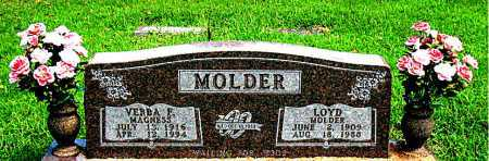 MAGNESS MOLDER, VERBA  F - Boone County, Arkansas | VERBA  F MAGNESS MOLDER - Arkansas Gravestone Photos